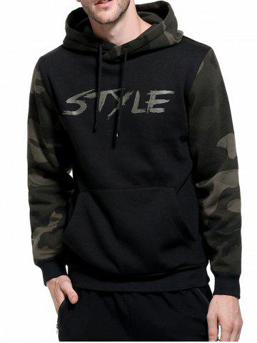 Chic Camouflage Graphic Print Fleece Pullover Hoodie