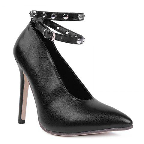 Buy Point Toe Studded Ankle Strap Pumps