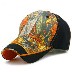 Outdoor Camo Printed Baseball Cap -