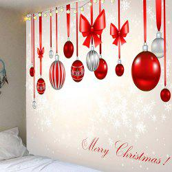 Waterproof Christmas Bow Knots Balloons Pattern Hanging Tapestry - Colorful - W91 Inch * L71 Inch