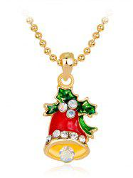 Christmas Bell Enamel Pendant Necklace -