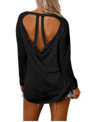 Back Cut Out Raglan Sleeve Knitwear -