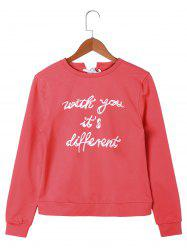 Letter Printed Lace Up Sweatshirt -