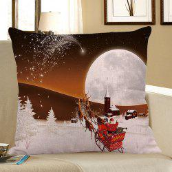 Home Decor Stars and Christmas Carriage Pattern Pillow Case - White And Brown - W18 Inch * L18 Inch