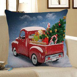 Home Decor Christmas Car Printed Pillow Case - Colorful - W18 Inch * L18 Inch