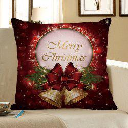 Christmas Bell Printed Square Pillow Case - COLORFUL W18 INCH * L18 INCH