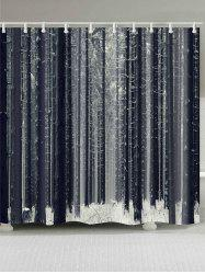 Forest Snow Printed Bath Shower Curtain -