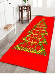 Christmas Tree Flannel Thin Skidproof Bath Rug - RED W16 INCH * L47 INCH