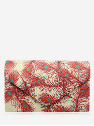 Envelope Sparkle Print Clutch Bag - RED