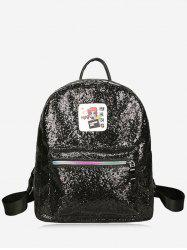 Zipper Sequin Backpack -
