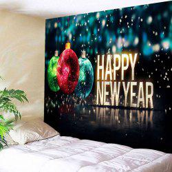 Christmas Ball Pattern Wall Tapestry - Black - W59 Inch * L51 Inch