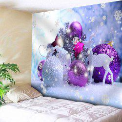 Christmas Ball Deer Printed Wall Tapestry - W91 Inch * L71 Inch