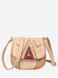 Geometric Rivet Hollow Out Crossbody Bag -