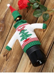 Christmas Tree Sweater Wine Bottle Cover -