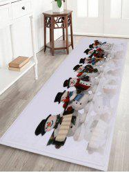 Christmas Snowman Band Antiskid Bath Rug -