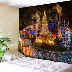 Christmas Paradise Pattern Wall Tapestry - W59 Inch * L51 Inch