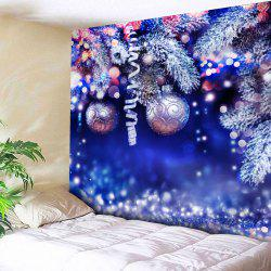 Wall Hanging Christmas Ball Printed Tapestry - Blue - W91 Inch * L71 Inch