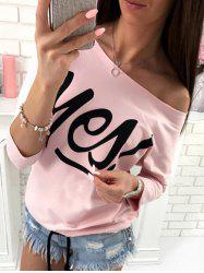 Yes T Shirt - PINK M