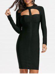 Club Long Sleeve Cut Out Bandage Dress -