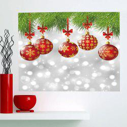 Multifunction Christmas Baubles Pattern Stick-on Wall Art Painting - COLORFUL 1PC:24*35 INCH( NO FRAME )