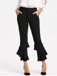 Cropped Layered Flare Pants -
