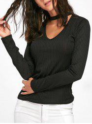 Keyhole Neck Ribbed Top -