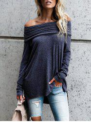 High Low Off The Shoulder Tunic Top -