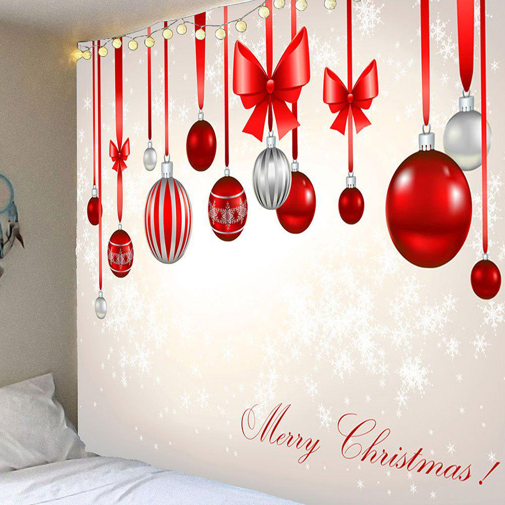 Waterproof Christmas Bow Knots Balloons Pattern Hanging TapestryHOME<br><br>Size: W91 INCH * L71 INCH; Color: COLORFUL; Style: Festival; Theme: Christmas; Material: Velvet; Feature: Removable,Waterproof; Shape/Pattern: Bowknot,Snow; Weight: 0.4200kg; Package Contents: 1 x Tapestry;