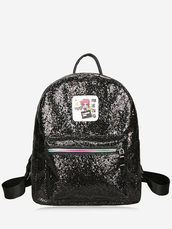 Shops Zipper Sequin Backpack