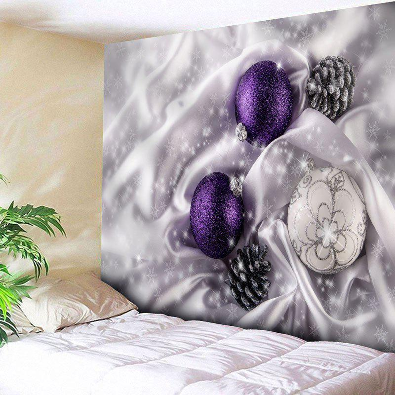 Wall Decor Christmas Ball Printed TapestryHOME<br><br>Size: W91 INCH * L71 INCH; Color: FROST; Style: Festival; Theme: Christmas; Material: Nylon,Polyester; Feature: Removable,Washable; Shape/Pattern: Ball; Weight: 0.3750kg; Package Contents: 1 x Tapestry;