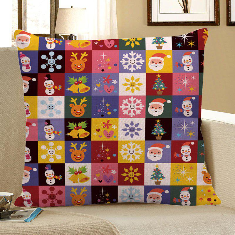 Christmas Decorations Patterned Throw Pillow CaseHOME<br><br>Size: W18 INCH * L18 INCH; Color: COLORFUL; Material: Linen; Fabric Type: Linen; Pattern: Christmas Tree,Elk,Santa Claus,Snowflake,Snowman; Style: Festival; Shape: Square; Size(CM): 45 x 45 (CM); Weight: 0.0800kg; Package Contents: 1 x Pillow Case;