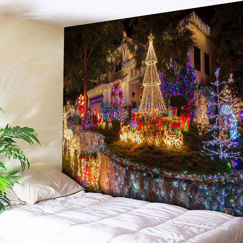 Christmas Paradise Pattern Wall TapestryHOME<br><br>Size: W79 INCH * L71 INCH; Color: COLORMIX; Style: Festival; Theme: Christmas; Material: Nylon,Polyester; Feature: Removable,Washable; Shape/Pattern: Print; Weight: 0.3000kg; Package Contents: 1 x Tapestry;