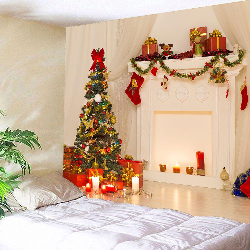 3D Christmas Printed Waterproof Wall Art TapestryHOME<br><br>Size: W59 INCH * L59 INCH; Color: COLORFUL; Style: Festival; Theme: Christmas; Material: Polyester; Feature: Removable,Washable; Shape/Pattern: Gift,Tree; Weight: 0.2600kg; Package Contents: 1 x Tapestry;