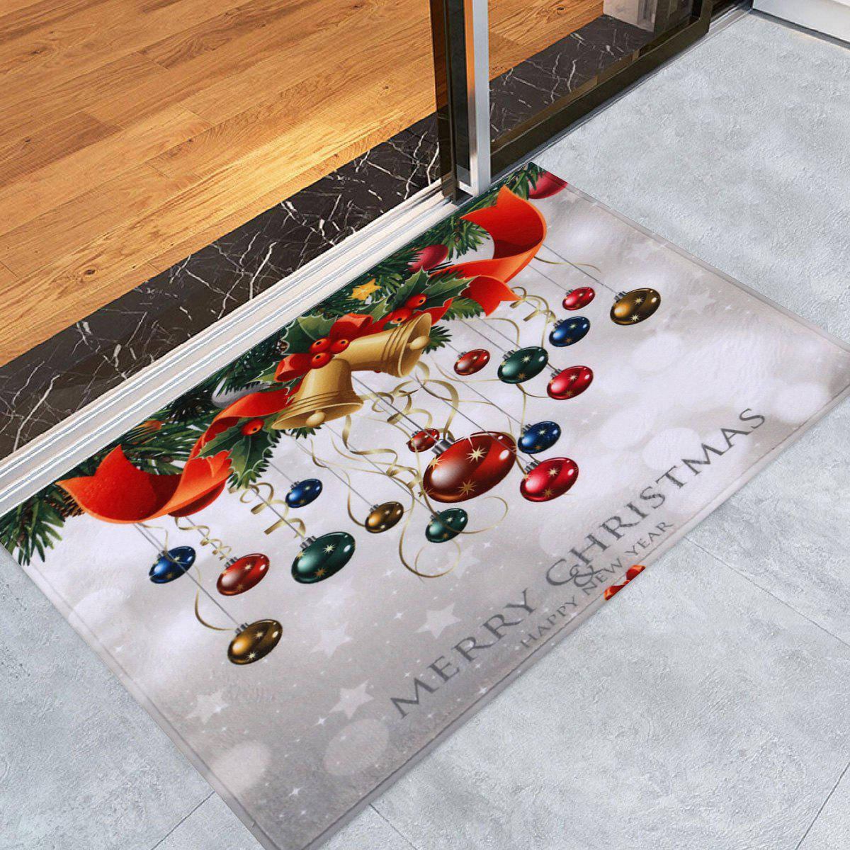 Bathroom Antislip Christmas Ball Area RugHOME<br><br>Size: W16 INCH * L24 INCH; Color: COLORMIX; Products Type: Bath rugs; Materials: Coral FLeece; Pattern: Ball,Plant; Style: Festival; Shape: Rectangular; Package Contents: 1 x Rug;
