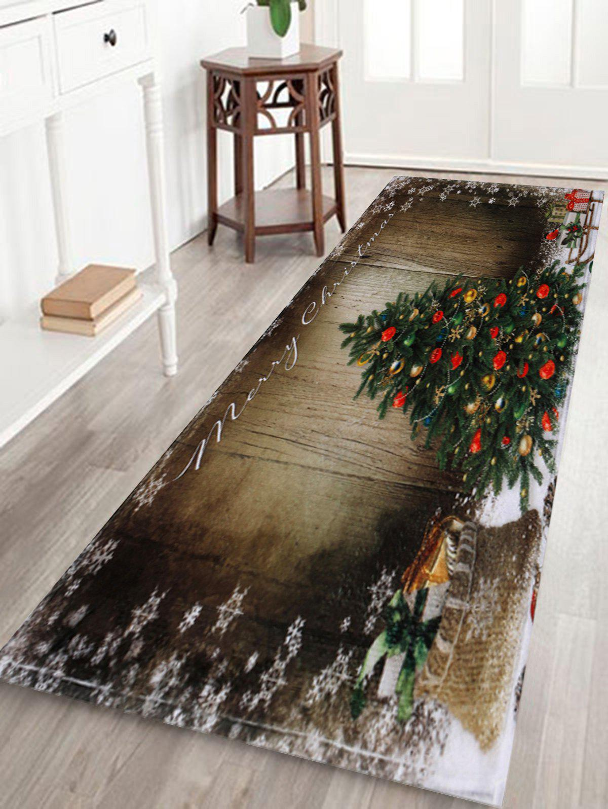 Hot Bathroom Antiskid Christmas Tree Area Rug