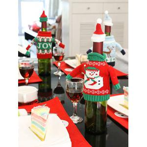 Christmas Snowman Sweater Wine Bottle Cover -