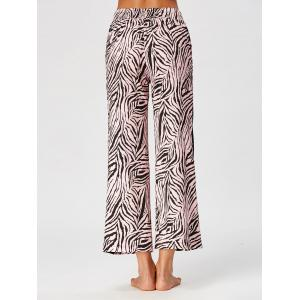 High Waist Tiger Stripe Casual Ninth Pants - COLORMIX XL