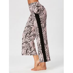 High Waist Tiger Stripe Casual Ninth Pants - COLORMIX 2XL