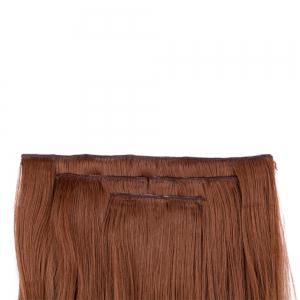 4Pcs/Lot Long Wavy Synthetic Clip In Hair Extensions - LIGHT BROWN