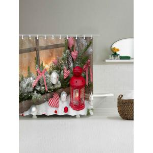 Christmas Graphic Waterproof Shower Curtain - COLORMIX W59 INCH * L71 INCH