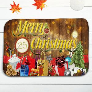 Christmas Tree Gift Print 3Pcs Bath Mats Set - BROWN
