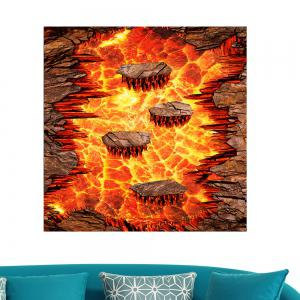 Waterproof Removable Volcanic Lava Multifunction Wall Floor Painting - PEARL ORANGE 24 X 36 INCH