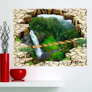 Multifunction Scenery Printed Stick-on Wall Art Painting - GREEN 1PC:24*35 INCH( NO FRAME )