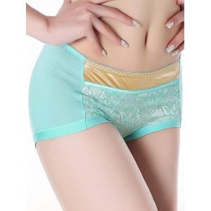 Lace Panel Panties - CLOUDY ONE SIZE