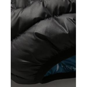 Casual Zip Up Padded Jacket - BLACK 4XL