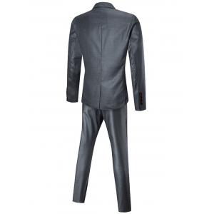 Slim Fit Three-piece Business Suit - SILVER 5XL