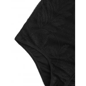 Backless Lace Crossback Swimsuit - BLACK S