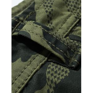 Camouflage Swallow Gird Cargo Pants - DEEP GRAY 32