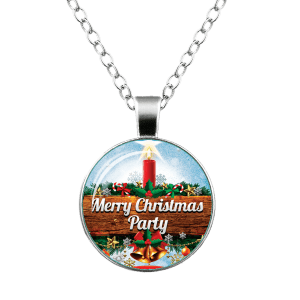 Merry Christmas Bells Star Snowflake Necklace -
