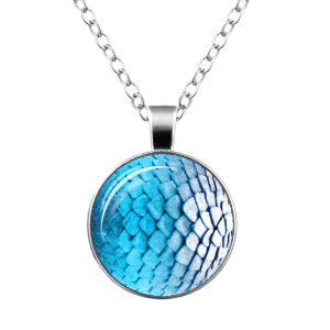 Dragon Scale Armor Round Necklace - SILVER